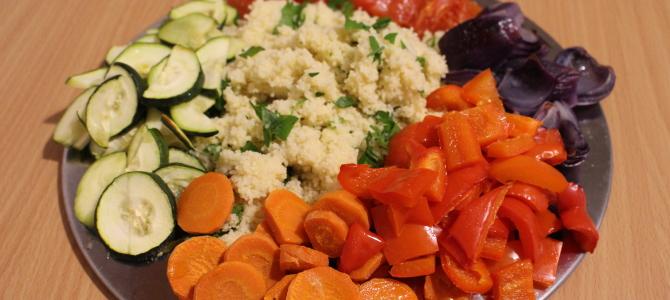 Kuskus z pieczonymi warzywami