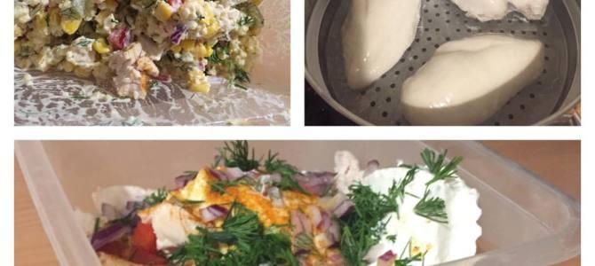 Lunch Box- sałatka z kaszą jaglaną i kurczakiem